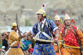 ladakh clothing artist on festival of ladakh heritage stock photo colourbox