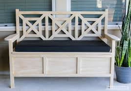 Garden Bench With Storage Interesting Outdoor Bench With Storage With How To Build A Diy
