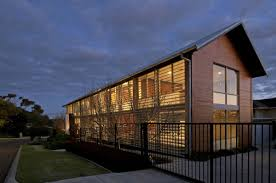 steel frame home fully glazed on the steet side mosman park house