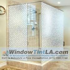 decorative glass shower doors frosted and decorative films for your bathroom shower door