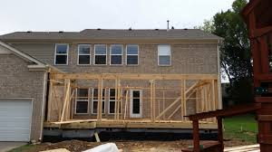 Building A Covered Porch Franklin Covered Porch Framing Kingdom Builders Of Tn Llc