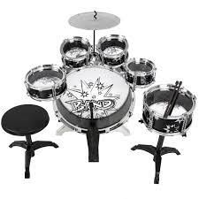 Different Drummers Kitchen Bcp Kids Toy Musical Instrument 11 Piece Kids Drum Set W Bass
