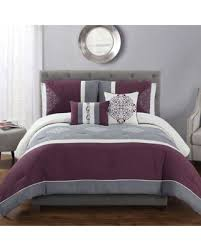 Wine Colored Bedding Sets Amazing Deal Mallory 5 King Comforter Set In Wine Grey