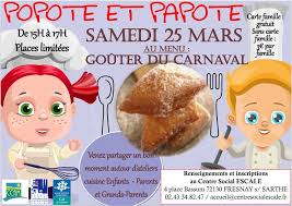 cours de cuisine parent enfant samedi 25 mars popote et papote goûter du carnaval association