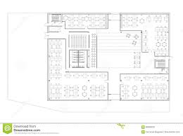 floor plan of the office building stock illustration image 82836255