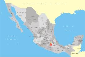 map of mexuco state map mexico major tourist attractions maps