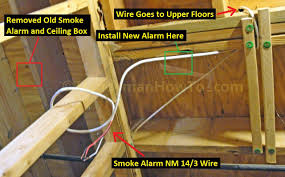how to install a hardwired smoke alarm ac power and alarm wiring