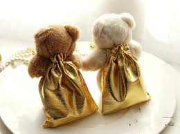 where to buy gift bags novety wedding ivory teddy candy bag candy wedding favors