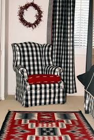 Black And White Buffalo Check Curtains Decorating With Navajo Rugs By Charley U0027s Navajo Rugs