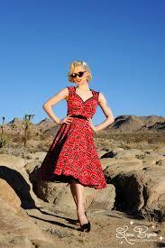 pinup couture heidi dress in red bandana print final sale
