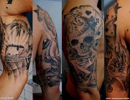 tribal sleeve tattoos for mens arms chest and arm