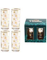 Unique Kitchen Gifts Palm Tree Highball Glasses Rosanna Paradise Collection Home
