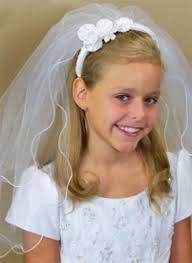 communion veil joanna headband communion veil