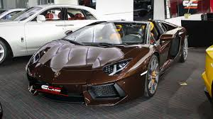 lamborghini aventador lights for sale a unique chocolate brown lamborghini aventador is for sale in dubai