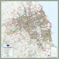 Newcastle England Map by Newcastle Tyne And Wear County Map U2013 Tiger Moon