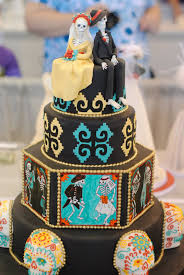 Halloween Wedding Cake by Sugar Skull Wedding Cake Rockabelle Bombshell
