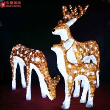 outdoor decoration animated led reindeer buy