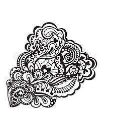 Design Black And White Black And White Floral Design Element Vector Illustration