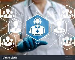 Virtual Help Desk Medical Support Concept Health Care Faq Stock Photo 600892169