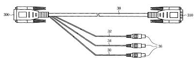 patent us6231379 vga cable adapter for transmitting video
