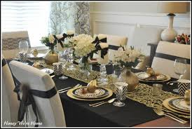 gold and whitethanksgiving décor ideas family