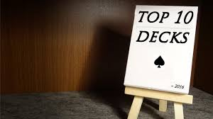 top 10 decks of playing cards owned by the start of 2016 end of