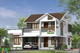 2200 sq ft house plans 2200 square feet 4 bedroom simple sloping roof home kerala home