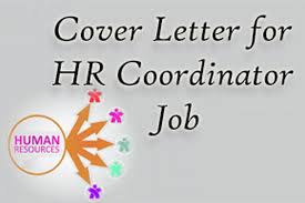 sample cover letter for hr coordinator job hr letter formats