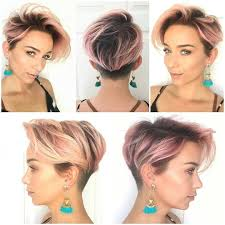 hair undercut female rooted pink rootage with pink rose platinum short hair undercut