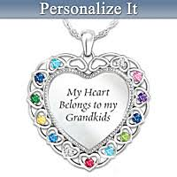 birthstone pendants for birthstone jewelry for grandmother bradford exchange