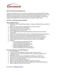 awesome inside sales job description tesstermulo com