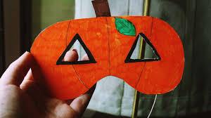 pumpkin mask how to make a pumpkin mask only with marker pens diy crafts