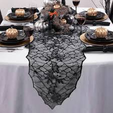 100 halloween table runner black and u2026boo table runner