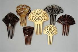 antique hair combs thought patterns vintage