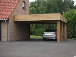 carport avec poteau acier galvanisé acrotère en panneau composite