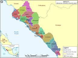 sinaloa mexico map map