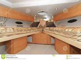 yacht bedroom stock image image of interior bunk space 30827077