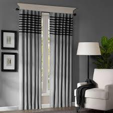 Black And White Window Curtains Interior Stylish Striped Window Curtains To Decorate Your Home