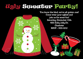 sweater invitation for or adults