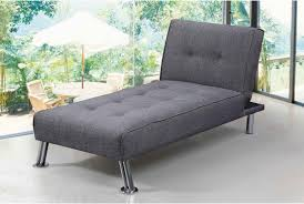 Chaise Lounge Sofa by Fabric Upholstered Fold Down Chaise Longue Sofa Bed Green Grey