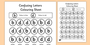 confusing letters colouring worksheets b and d letters vocab