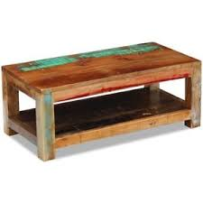 reclaimed timber coffee table vidaxl solid recycled timber coffee side table shelf 90x45cm