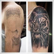 tiger coverup by gennaro venanzi tattoonow