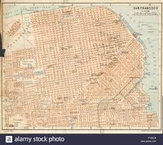 San Francisco Chinatown Map by San Francisco Antique Town City Plan California Baedeker 1904