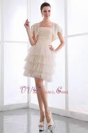 short layers chiffon prom dress with chiffon jacket