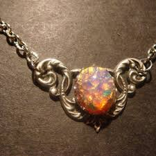 red opal necklace images Best victorian opal necklace products on wanelo jpg
