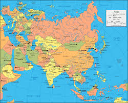 Asia Physical Map Quiz by Download Asia Map Political Major Tourist Attractions Maps