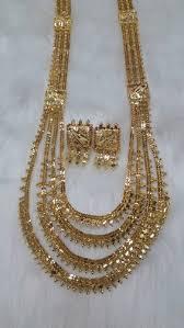 big gold necklace set images Ap big rani haar 3 necklace set at rs 1625 set gold plated long jpg