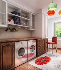 Laundry Room Storage Units Storage Large Traditional Laundry Room With Wooden Storage And