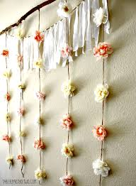 wedding backdrop simple simple whimsical floral garland backdrop